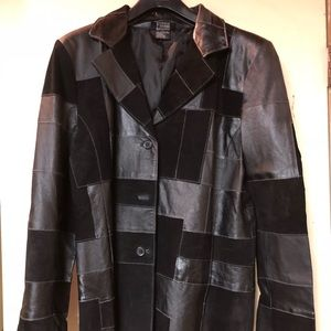 Leather Patchwork Jacket brand new